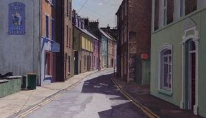 Detail from The Curved Street (Youghal) by John Doherty