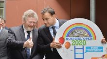 James Reilly, Minister for Children and Leo Varadkar Minister for Health at Crumlin Childrens Hospital to celebrate the decision by an Bord Pleanala to grant permission for the new childrens hospital on a campus shared with St. James's Hospital. Photograph: Alan Betson