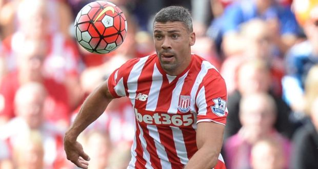 7f8d11bb9 Jonathan Walters could return from injury for Stoke City s game at home toi  Sunderland. Photograph