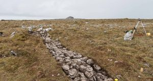 One of the trenches at the excavation on Turlough Hill in the Burren, Co Clare. Photograph: Eamon Ward