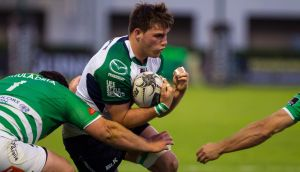 Connacht's Jake Heenan in action during the Guinness Pro 12 game against Benetton Treviso at Stadio Monigo in Italy. Photograph:  Alfio Guarise/Inpho