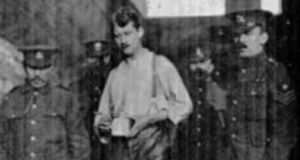 Thomas Ashe shortly after his arrest and still wearing his motorcycle leathers