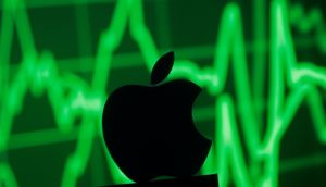 Apple shares were down for the 10th session in the last 11 and closed the week down 11.3 per cent, the largest such decline since January 2013. Illustration: Dado Ruvic/Reuters