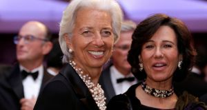 International Monetary Fund managing director Christine Lagarde (left)  attends the White House Correspondents' Association annual dinner in Washington. Photograph: Reuters