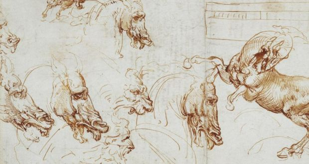 Expressions of fury in horses, lions and a man by Leonardo da Vinci (1452–1519). Photograph: Royal Collection Trust / © Her Majesty Queen Elizabeth II 2016