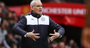 Leicester manager Claudio Ranieri is now just two points away from leading his team to a miraculous first Premier League title. Photo: Reuters