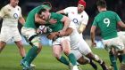 Cian Healy in action against England in the Six Nations: niggling injuries cast doubt on his participation in South Africa tour. Photograph: David Rogers/Getty Images