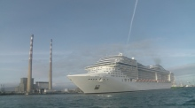333m-long cruise ship docks in Dublin Port