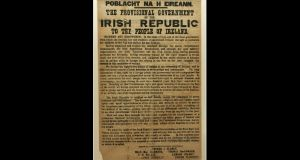 Gabriel Doherty of the School of History at UCC said that there has been an unfortunate tendency to take individual sentences, phrases and concepts from the Proclamation out of the text and interpret them as representative of the whole document. File photograph: Dara Mac Dónaill