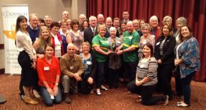 Colin and Eithne Bell with Joan Ross of the Claddagh Association (centre), and representatives of other Irish welfare organisations working around Australia, at the LINK conference in Perth.