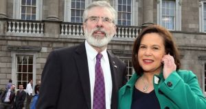Sinn Féin deputy leader Mary Lou McDonald says she is not embarrassed by Gerry Adams's use of social media.