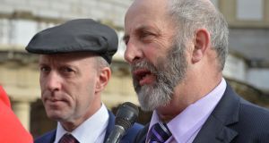 Independent Kerry TD Danny  Healy Rae (right) with his brother Michael. Photograph: Alan Betson/The Irish Times