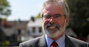 'Adams has enjoyed an unchallenged tenure at the top of the Sinn Féin of a duration once seen only in newly established African democracies.' Photograph: Brian Lawless/PA Wire