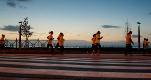 The early morning Darkness into Light 5km walk, which was first held in Dublin's Phoenix Park eight years ago, will take place at 80 locations around the world on Saturday. Photograph: Joe Keogh