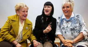 Marie Newton, left, musician and actor Bronagh Gallagher and Sharon Austin at the Beyond the Silence launch