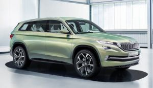 Skoda's long-awaited new SUV was previewed through the Vision-S concept
