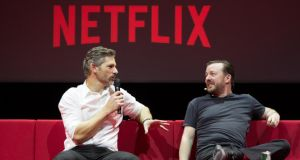 Ricky Gervais and Eric Bana of Special Correspondents
