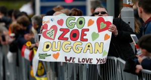 Supporters at this year's London Marathon.  Photograph: Andrew Boyers/Action