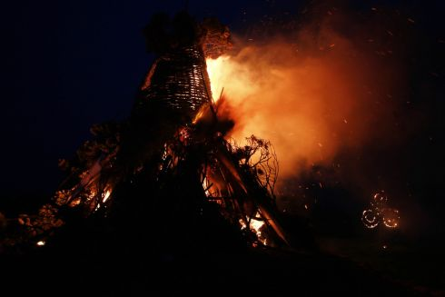 Festival of Fires set the ancient seat of the High King's alight at the Hill of Uisneach in Co Westmeath. Photograph: Nick Bradshaw