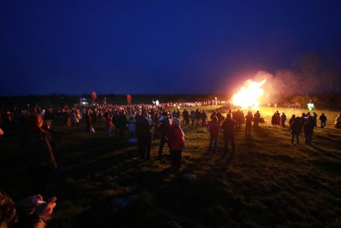 06-05-2016 - NEWS -  Ireland's oldest, most spectacular and hottest festival has once again ignited the summer festival season when it is rekindled on the historic Hill of Uisneach in County Westmeath on Bealtaine, Friday May 6th. Festival of Fires were set the ancient seat of the High King's alight.  General Views capturing the event.  Picture Nick Bradshaw
