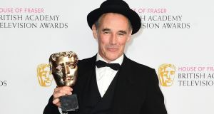 Mark Rylance with his award for Best Actor at the Baftas in London. Photograph: Ian West/PA Wire