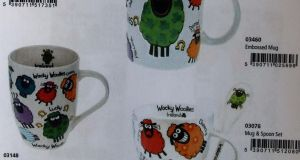 A selection of mugs as seen in the Wacky Woolies catalogue - which was referenced as part of a High Court action between The Shamrock Gift Company and Allied Imports Ltd.(Photograph:  Courts Collins)