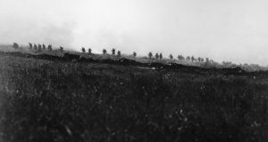 Troops of the Tyneside Irish Brigade on July 1st, 1916, the first day of the battle of the Somme. photograph: the art archive/ imperial war museum  Troops of the Tyneside Irish Brigade on July 1st, 1916, the first day of the battle of the Somme. Photograph: The Art Archive/Imperial War Museum
