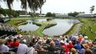 A general view of the 17th green at TPC Sawgrass  in Ponte Vedra Beach, Florida. Photograph: Richard Heathcote/Getty Images