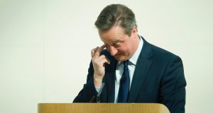British prime minister David Cameron: the Panama Papers revelations put pressure on him because of his late father Ian Cameron's use of an offshore company. Photograph:  Leon Neal/Pool
