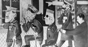 Painting by Otto Dix, 'War Cripples,' at a Nazi exhibition of Degenerate Art at the Munich Hofgarten, July 1937. Photograph: Ullstein Bild via Getty Images