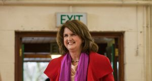 Joan Burton wrote her name into the history books by becoming the first female leader of the Labour party. Photograph: Brenda Fitzsimons / The Irish Times