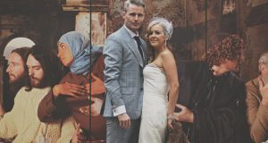 Sharp couple: Derek and Zoe McGrath at their wedding in Dublin