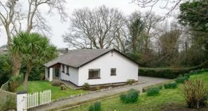 Knight Frank is seeking €595,000 for this four-bedroom detached house of 143.43sq m (1,544sq ft) on about half an acre at Deirgne, Blackberry Lane, Delgany, Co Wicklow.