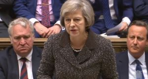 "British home secretary Theresa May has said  the raising of the official threat level linked to Northern-Ireland related terrorism  ""reflects the continuing threat from dissident republican activity"". Photograph: PA Wire"