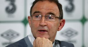 Martin O'Neill named a 35-man squad in Dublin on Thursday. Photograph: Jean Catuffe/Getty Images