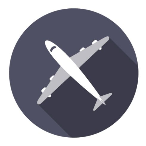 Flat icon plane