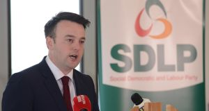 SDLP leader, Colum Eastwood, has a very big decision to make. Photograph: Arthur Allison.