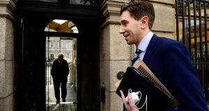 "Minister for Health Simon Harris is Fine Gael ""through and through"", unlike Leo Varadkar, who is regarded with suspicion by the blue-blooded wing of the party. Photograph: Cyril Byrne / The Irish Times"