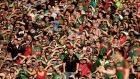 A county, a people: Mayo fans during the 2015 All-Ireland semi-final replay at Croke Park. Photograph: James Crombie/Inpho