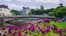 Kilkenny Castle and John's Bridge when  the  city was announced as  the Irish Tidy Town winner in 2014. Photograph: Pat Moore.