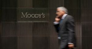 Moody's has maintained a B rating on Irish debt for much longer than other agencies.  Photograph: Bloomberg
