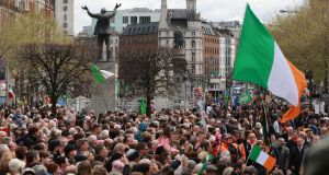 The people's event celebrating the 100th anniversary of  1916 Rising.  Photograph: Nick Bradshaw