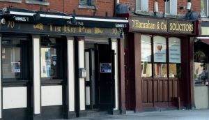 O'Hanrahan Solicitors is immediately next door to The Ref Pub on Ballybough Road, where the six men's night of drama had begun. Photograph: Cyril Byrne