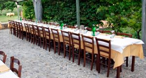 Long tables are in for this year's receptions