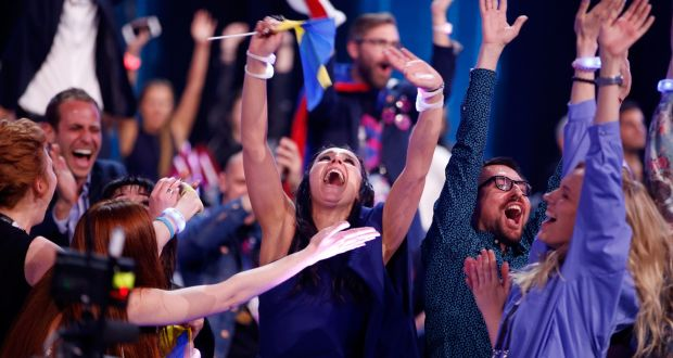 ccbd2d8c Eurovision Song Contest winner 2016 Jamala representing Ukraine celebrates  in Stockholm, Sweden. Photograph: