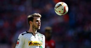 Havard Nordtveit of Borussia Moenchengladbach controls the ball during a Bundesliga match against Bayern Munich last month. Photograph: Boris Streubel/Getty Images