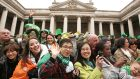 Crowds at the St Patrick's Festival Parade in Dublin. A delegation of 15 companies will visit Beijing, Shanghai, Shenzhen and Hong Kong as part of a sales mission to tap China's rapidly expanding outbound tourism market. Photograph: Alan Betson
