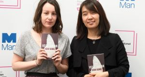 Translator Deborah Smith and author Han Kang will share the £50,000 prize equally. Photograph: Leon Neal/AFP/Getty Images