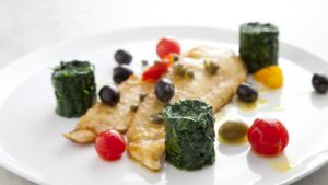 Spinach is fabulous eaten raw, tossed in a light dressing, or as in this instance, lightly sautéed and served with some lovely Donegal plaice.