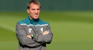Brendan Rodgers has emerged as odds-on favourite to take over at Celtic as the club step up their recruitment process. Photograph:  Martin Rickett/PA Wire